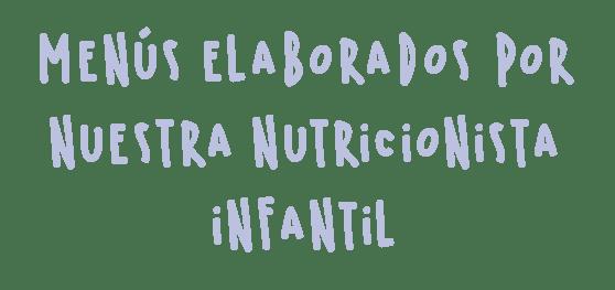 Menus elaborados por nutricionista